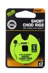 Fox Chod Stiff Rig Short 30lb S:5 Előkötött