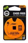 Fox Chod Stiff Rig STD 25lb S:8 Barbless Előkötött