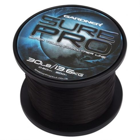 Gardner Sure Pro Black 25lb 0,45mm - fekete főzsinór