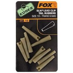 Fox Edges Size 10 Slik Lead Clip Tail Rubber - gumikúp