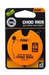 Fox Chod Stiff Rig STD 25lb S:6 Barbless Előkötött