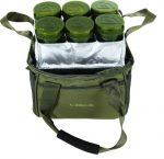 Trakker - NXG Bait Bag - Csalis kistáska 6 tégellyel